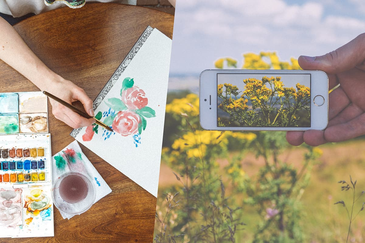 flower photo painting